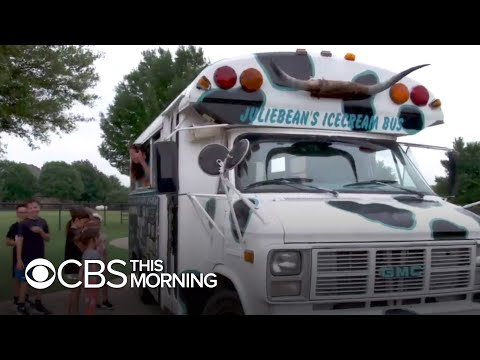 Cow-painted ice cream bus brings community together during the pandemic