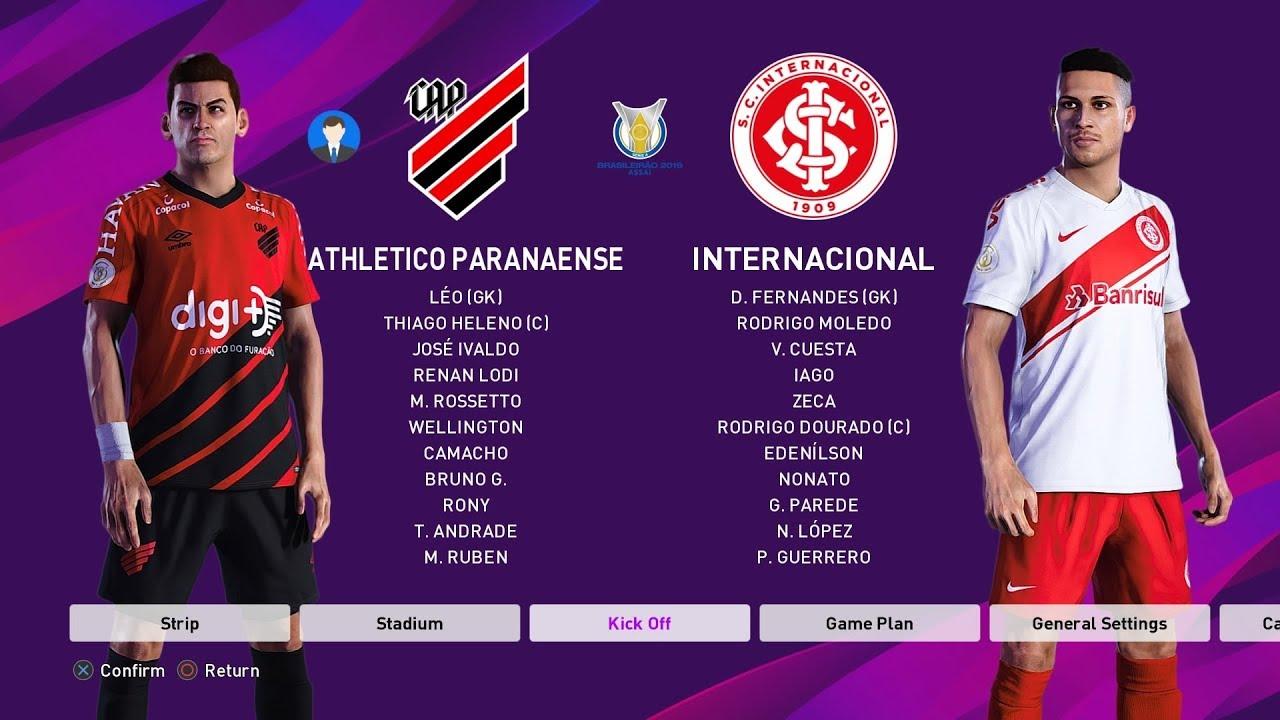 Pes 2020 Athletico Pr Vs International Copa Do Brasil 12 September 2019 Full Gameplay Hd Youtube