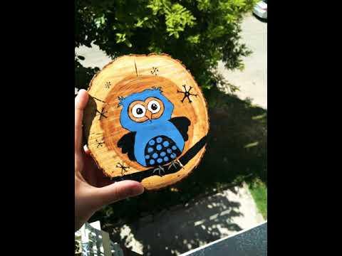 Kutuk Boyama Handmade Elemegi Resim Baykus Cizimi Youtube
