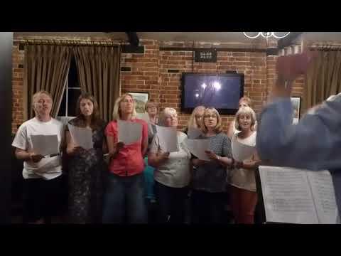 Beccles Instant Choir sings It's Raining Again