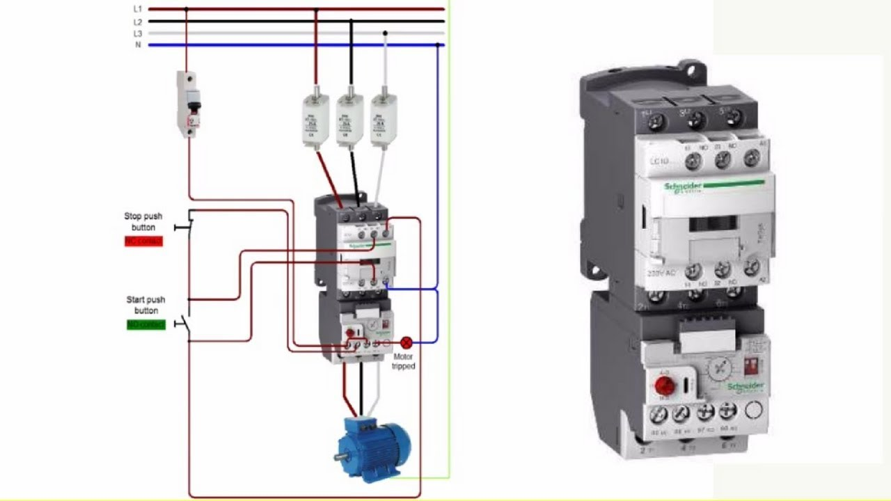 How To Select Size of Contactor, Fuse and C B For Motor in Urdu/Hindi