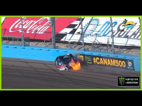 Stenhouse's day ends in fire at ISM Raceway