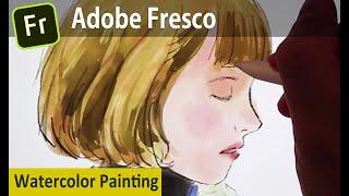 [ENG sub] 어도비 프레스코 아이패드 수채화 리뷰 /  Adobe Fresco Watercolor