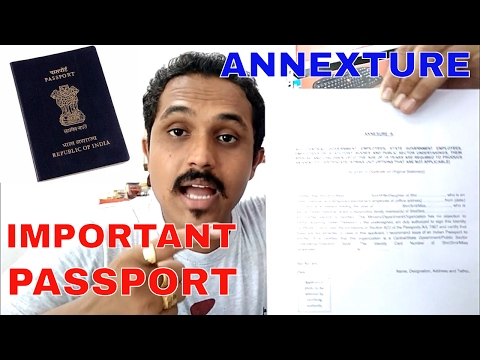 ALL ANNEXURE'S IN PASSPORT EXPLAINED! VERY IMPORTANT!! (HINDI 2017)
