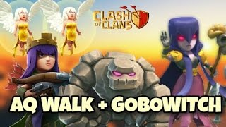 gobowitch aq walk   best th9 new 3 stars war attack strategy   clash of clans