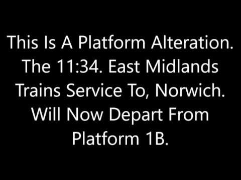 Nottingham Midland Announcements Part 2