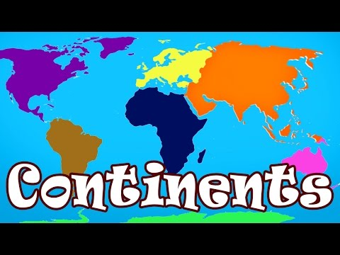 Kid Songs | Seven Continents Song for Children | The Continents Song