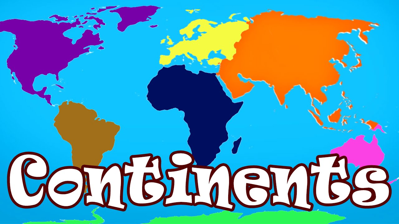 Kid Songs Seven Continents Song For Children The Continents - Simple map of asia for kids