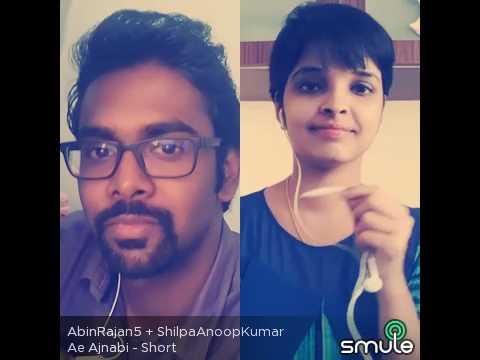 Ae Ajnabi - Short Version (Smule Cover) - A R Rahman - Dil Se ft. Abin Rajan & Shilpa Anoop