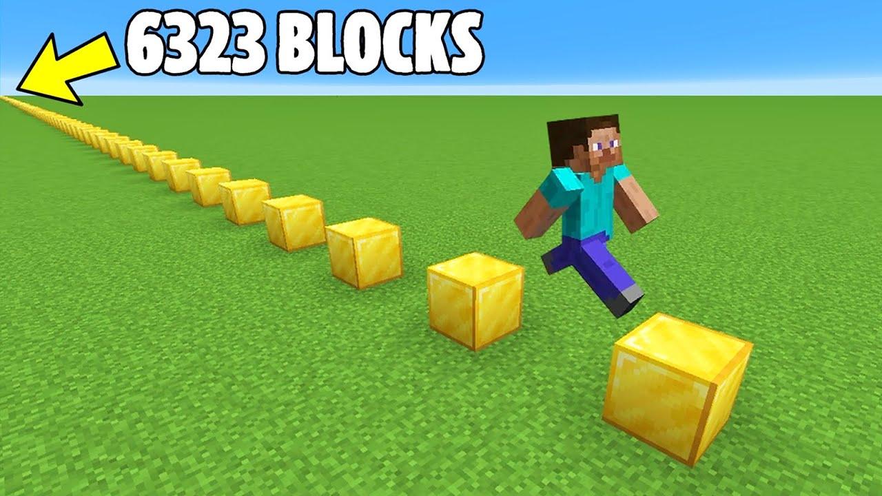 Jumping 6323 Blocks to Break a Minecraft Record