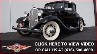 1933 Chevrolet Master || SOLD