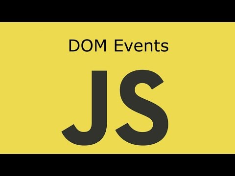 JavaScript Lesson 16 DOM Events