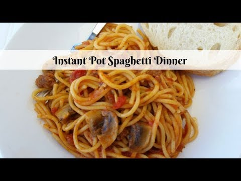 Instant Pot Spaghetti Dinner ~ Pressure Cooker Recipe ~ Amy Learns to Cook
