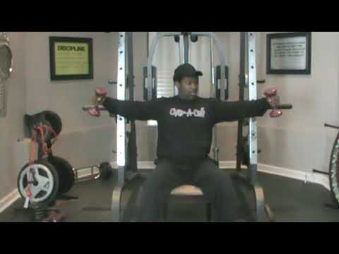 gym chest chair damask covers uk and back workout w dumbbells for men women a cise daryl madison