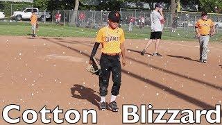 ⚾️TOUGH Baseball Game in a COTTON BLIZZARD ⚾️ Giants vs Braves