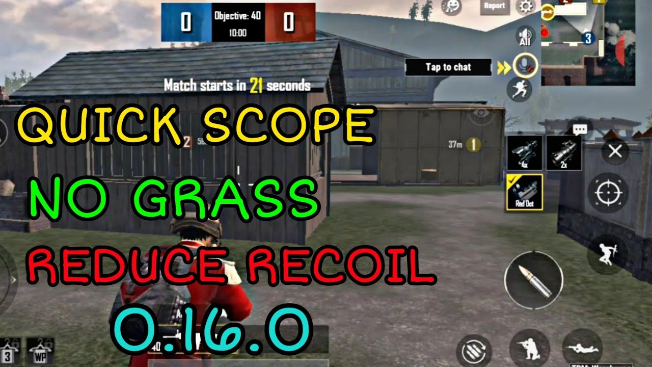 Quick Scope ,No Recoil,No Grass in PUBG Mobile Lite in Tamil