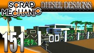 Scrap Mechanic Gameplay :EP151: New Logic Gate & Time Blocks!  Modern House Update! (HD Creative)