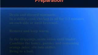 Recipe For Orange-honey Cashew Chicken