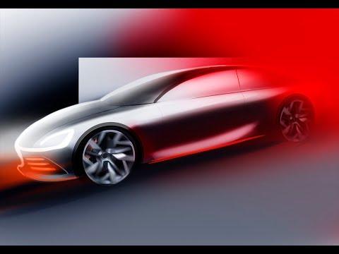 Car Sketching In PHOTOSHOP/ Рисование автомобиля в Фотошопе