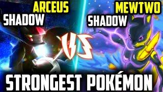 Shadow Mewtwo VS Shadow Arceus 🤯  Strongest Pokémon Ever   Mega Shadow Mewtwo   Arceus Vs Mewtwo