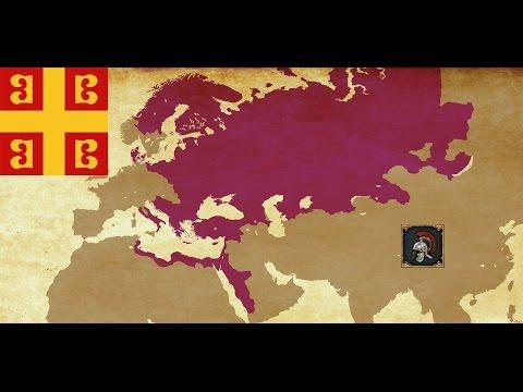 Byzantine Empire - EU4 Basileus Achievement Timelapse