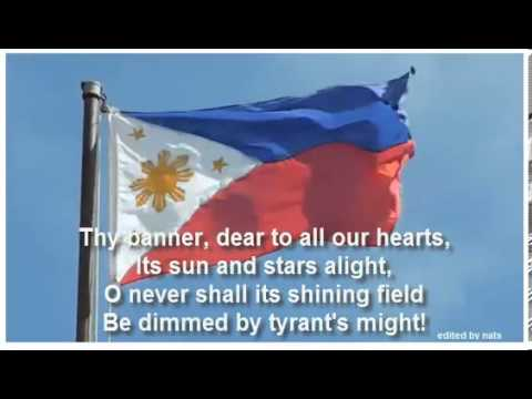 Philippine  National Anthem in English