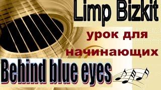 Behind Blue Eyes - Limp Bizkit (КАК ИГРАТЬ)УРОК ДЛЯ НАЧИНАЮЩИХ