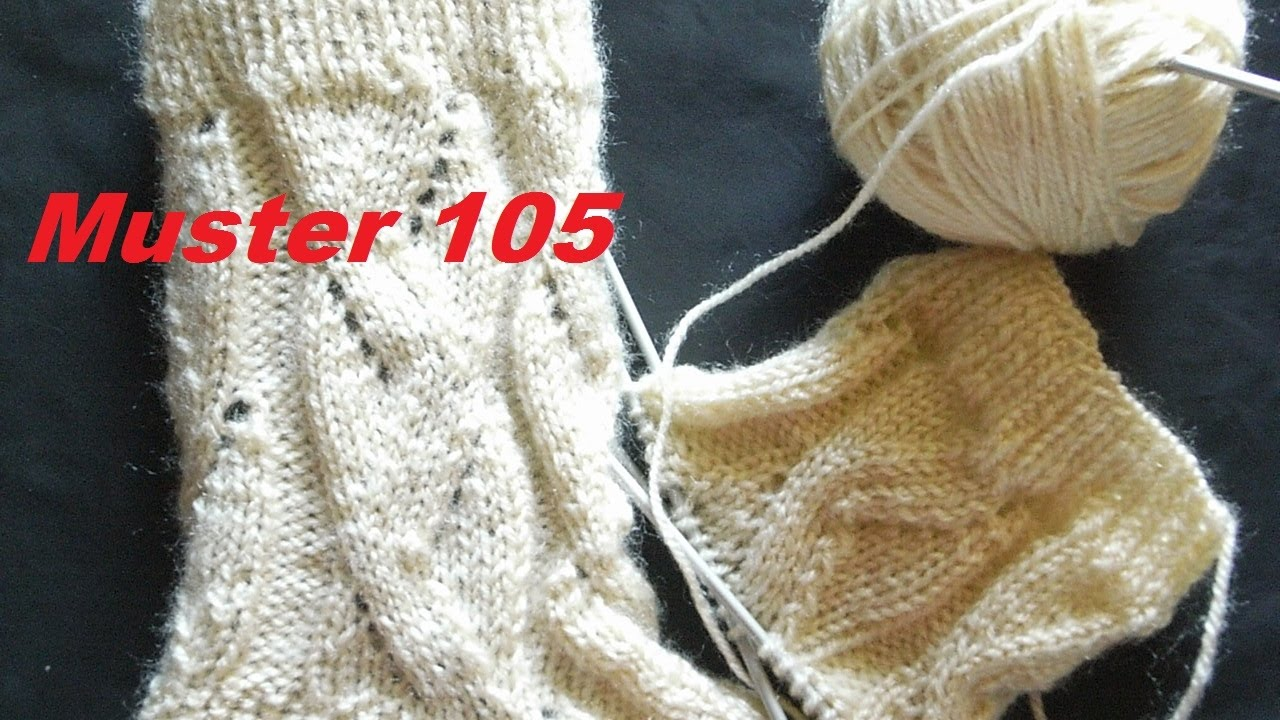 muster 105 stricken mit nadelspiel muster f r kinder socken m tzen handschuhe youtube. Black Bedroom Furniture Sets. Home Design Ideas