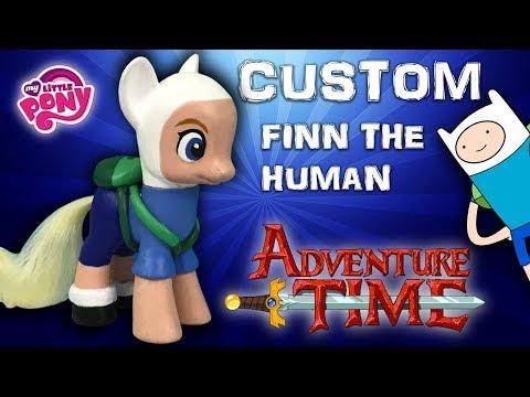 Custom My Little Pony - Finn the human Repaint DIY OOAK doll Tutorial
