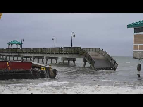 Loose Barge Collides With James T. Wilson Fishing Pier