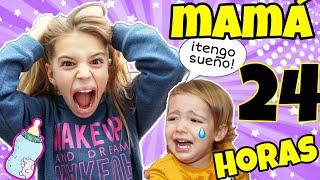 😲🍼24 HORAS SIENDO MAMÁ - AUXILIO!!! / El mundo de Indy