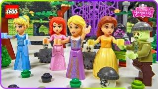 ♥ LEGO Disney Princess Belle HAUNTED ZOMBIE MANSION ft. Ariel Rapunzel Cinderella