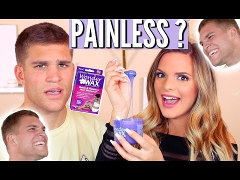 "TESTING ""PAINLESS"" WAX ON MY BOYFRIEND! 