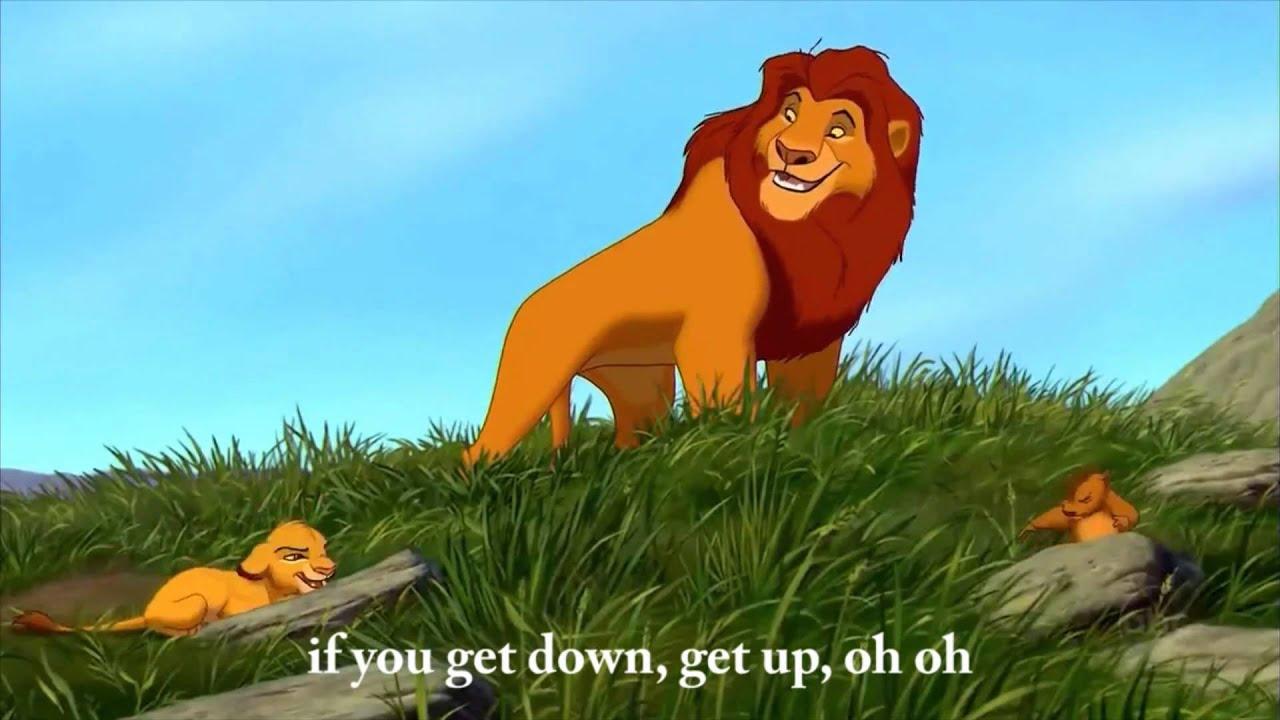 The Lion King - Waka Waka - ♫ - Shakira - English lyrics on screen - YouTube