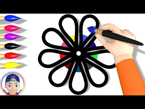 Flower Coloring Pages ( Learn Colors for Kids ) Akn Kids House / 3D Coloring #23