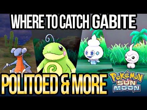 How to Catch Politoed, Goomy, Goomy, Gabite, Vanillite & More in Pokemon Sun + Moon?
