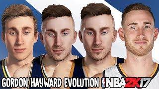 Gordon Hayward Evolution - Face Comparison (NBA 2K11 - NBA 2K17)