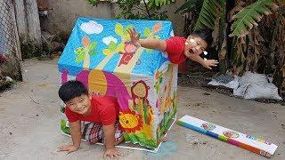 trò chơi nhà lều cắm trại ❤ chichi toysreview tv ❤ đồ chơi trẻ em baby fun