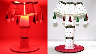 How to Make Show Lamp with Paper Glass | Table Lamp Making at Home | #Lamp #Recycle #Papercup