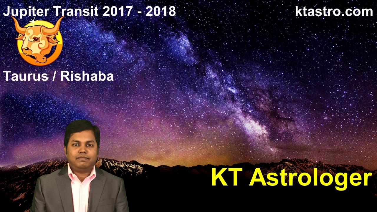 Jupiter transit 2017 2018 for taurus rishaba rasi guru peyarchi gochar