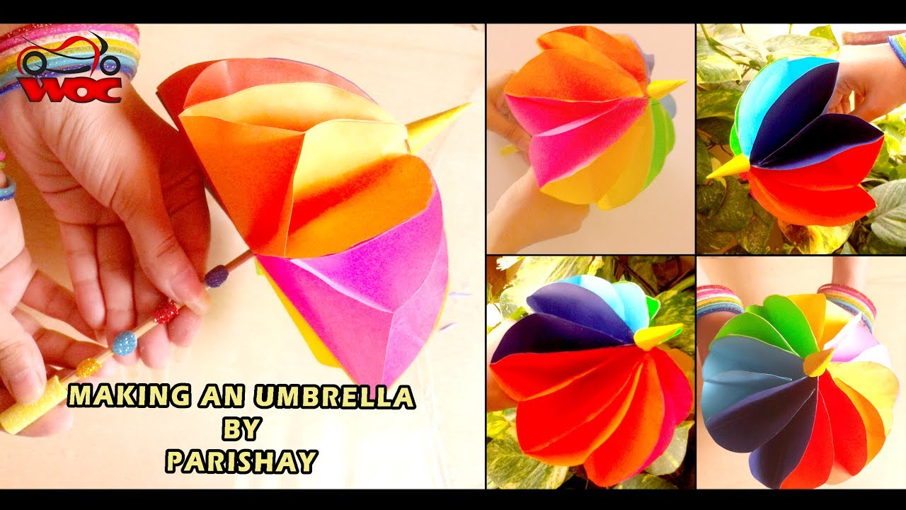 How To Make A Paper Umbrella Amazing Umbrella Tutorial Youtube