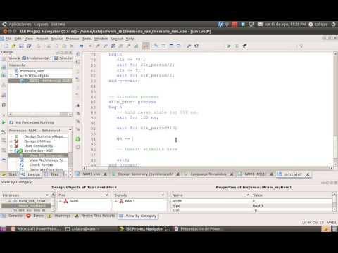 Video 9 : Diseño de memorias en VHDL
