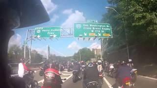 Violence  Ne pas bousculer des motards