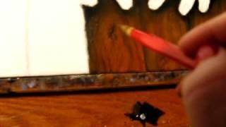 Cande Sagan Painting Wood Texture