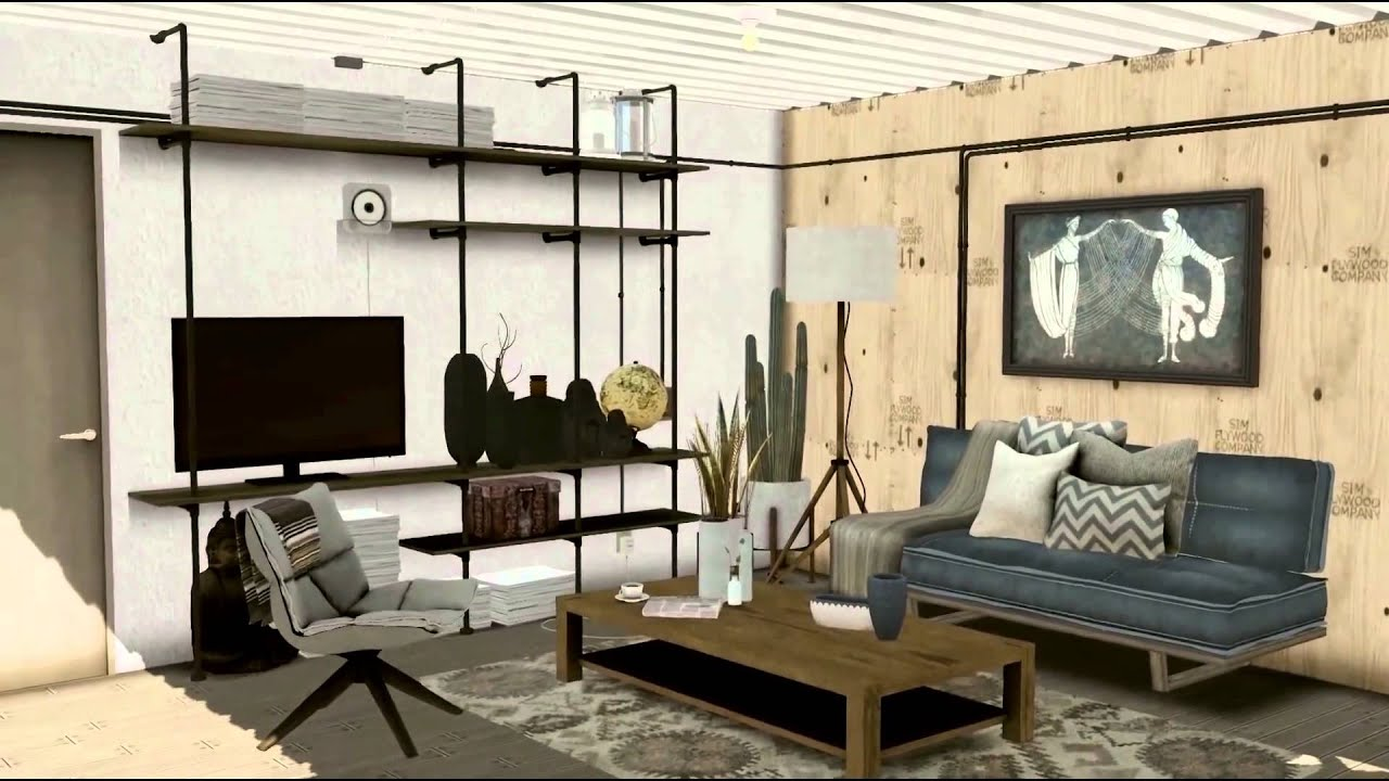 the sims 3 shipping container house - youtube