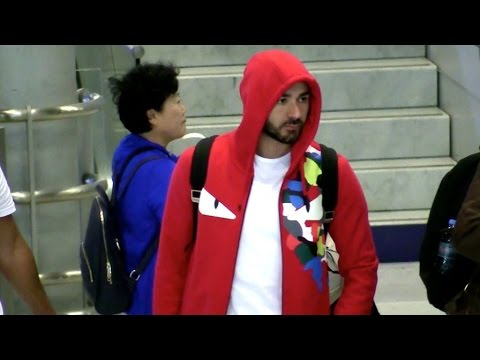 EXCLUSIVE: Karim Benzema arriving at Charles de Gaulle airport in Paris