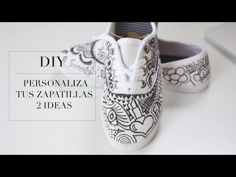 DIY DECORA TUS TENNIS - ZAPATILLAS 2 ideas| Fashion Riot