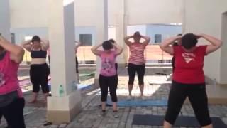 Утренняя зарядка в стиле бодифлекс. Студия Марины Корпан. Фитнес туры в Сочи.