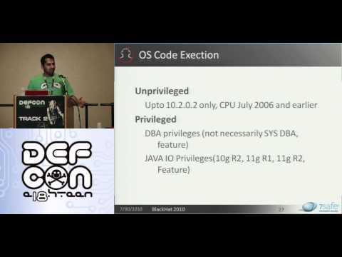 DEFCON 18: Hacking Oracle From Web Apps  2/4