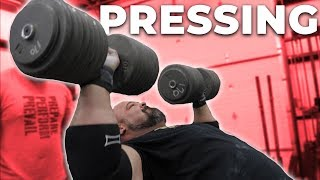 HEAVY PRESSING TRAINING SESSION | STRONGMAN